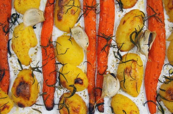 Pieczone ziemniaki i warzywa Jamiego Olivera