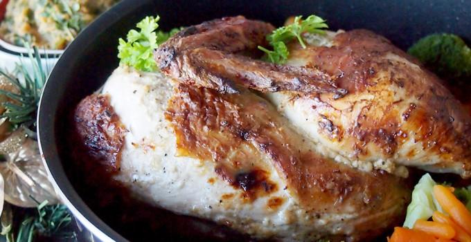 Pieczony kurczak w marynacie jogurtowej z kardamonem/Roasted chicken with cardamom and yogurt