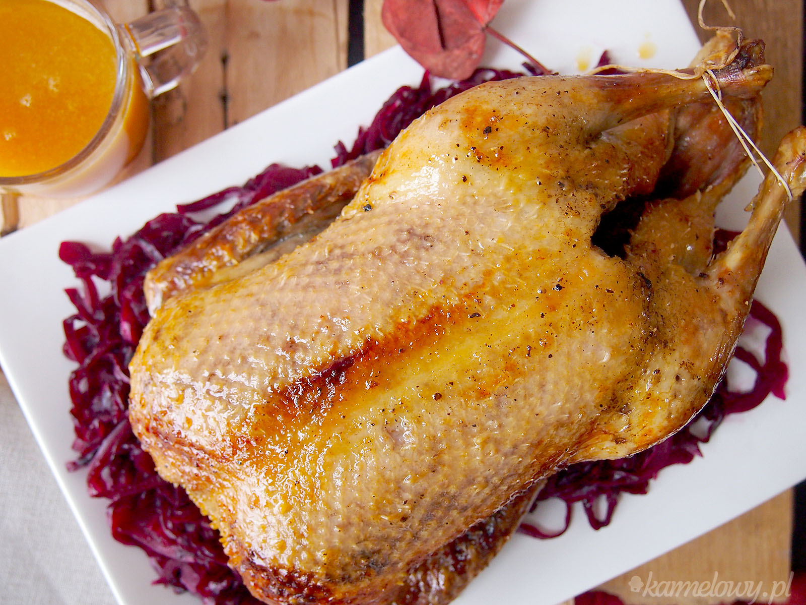 how to cook sauce to serve with roast duck