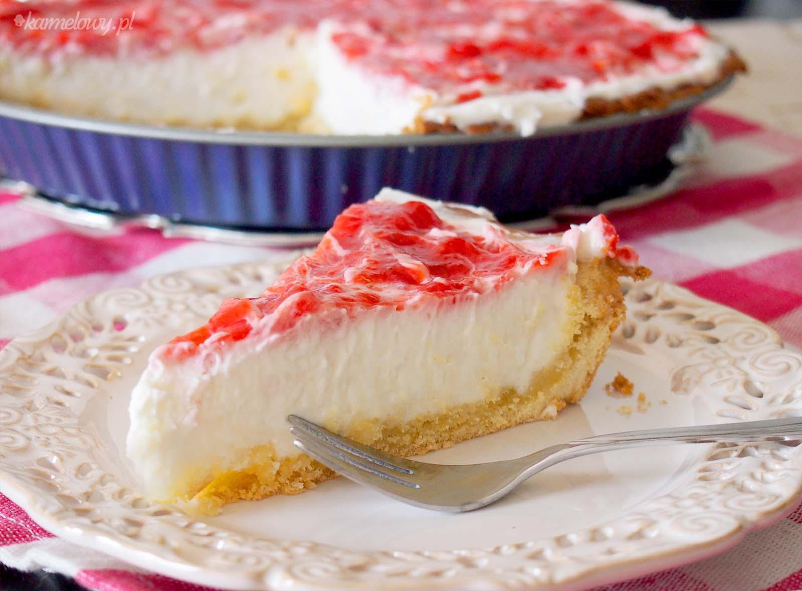 ... truskawkami / Strawberry cream cheese tart - Karmelowy blog kulinarny