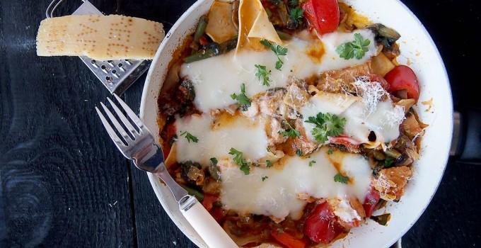 Odchudzona lasagna z patelni / Skinny skillet lasagna