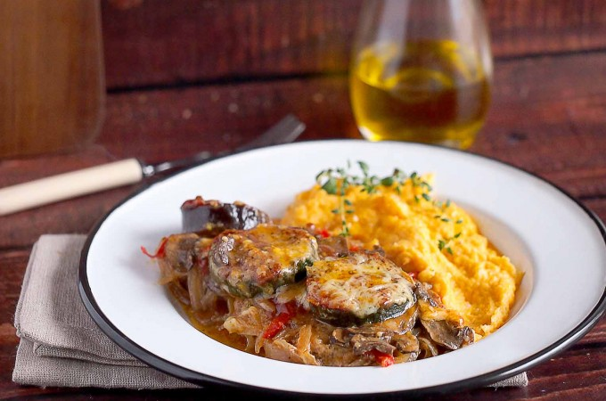 Karkówka zapiekana z warzywami / Pork neck baked with vegetables1