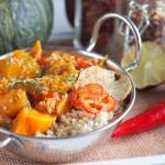 Jesienne curry z dynią i kurczakiem / Pumkin and chicken fall curry