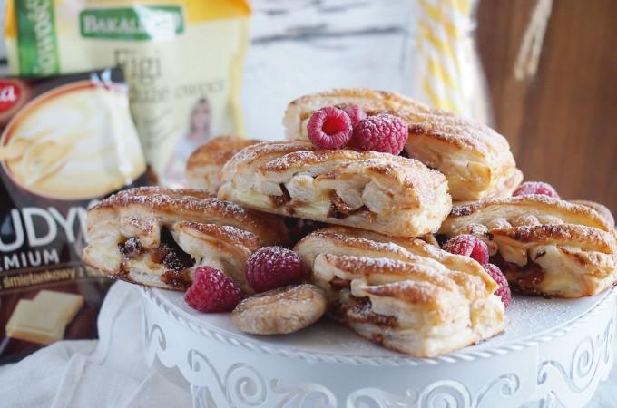 Ciastka francuskie z budyniem i suszonymi figami / Pastries with pudding and dried figs