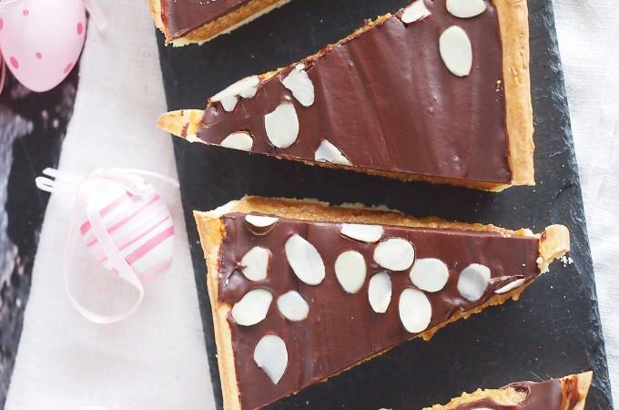 Najłatwiejszy mazurek z karmelem i czekoladą / Easy caramel and chocolate tart