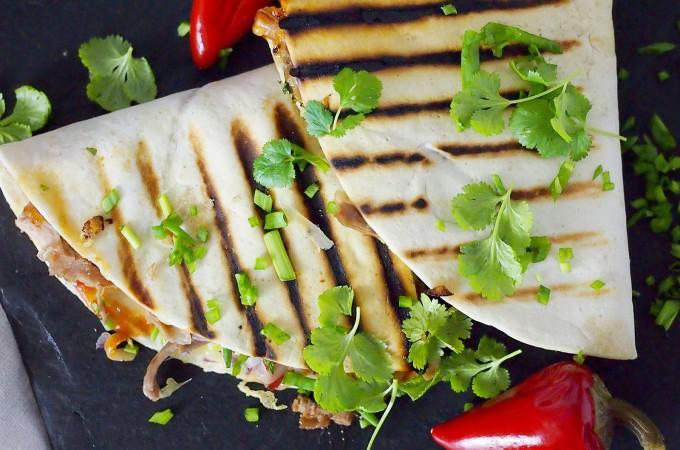 Quesadillas z kaczką w sosie bbq / Bbq duck quesadillas