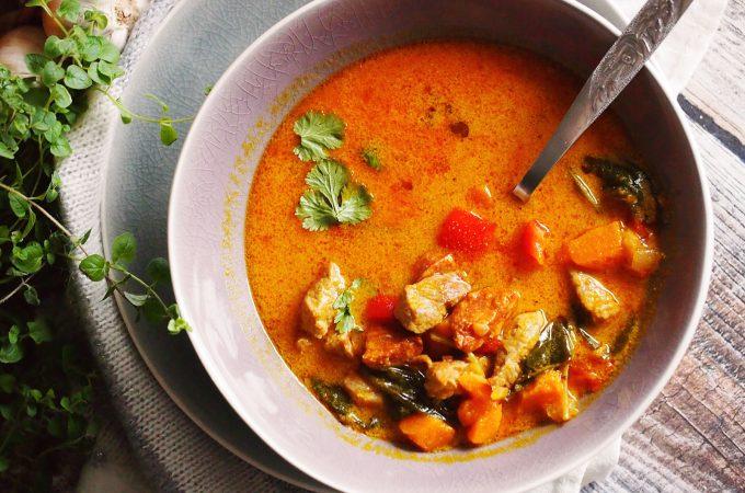 Zupa z dynią i chorizo / Pumpkin and chorizo soup