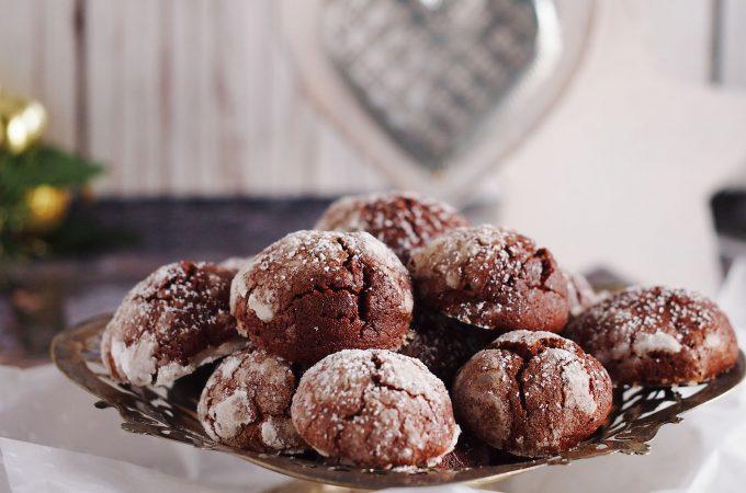 Popękane ciasteczka czekoladowe / Chocolate crinkles