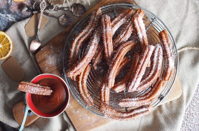 Churros czekoladowe / Chocolate churros