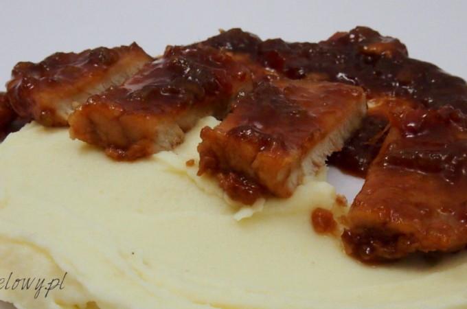 Kotlety wieprzowe w glazurze z sosu hoisin