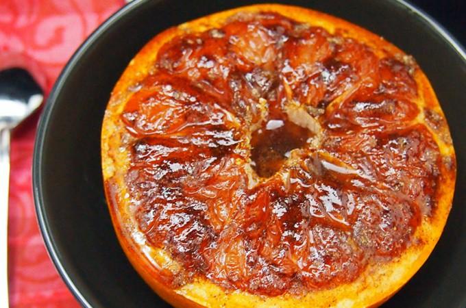 Karmelizowany grapefruit