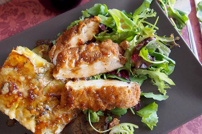 Podwójnie chrupiące piersi z kurczaka w sosie miodowo-czosnkowym/Double crunch honey garlic chicken breasts