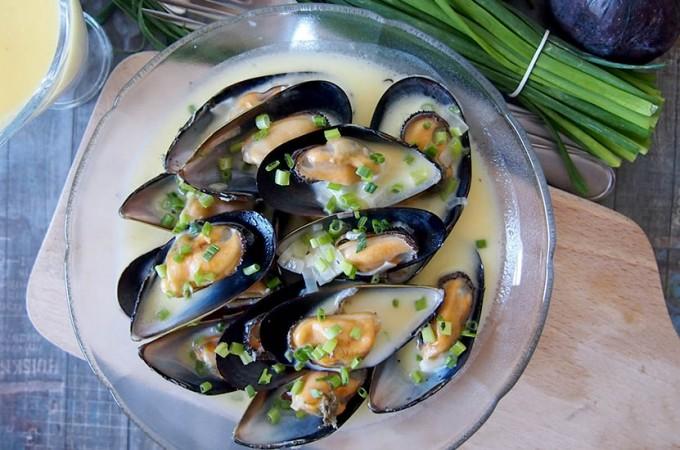 Mule w sosie śmietanowo-cydrowym/Mussels in cider