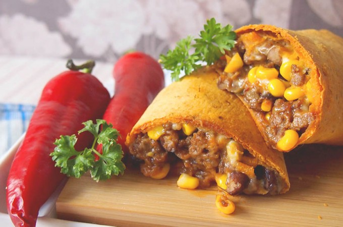 Chrupiące burrito z wołowiną / Crispy beef burritos
