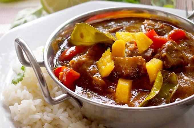 Łatwe curry z mango i kurczakiem / Easy mango and chicken curry