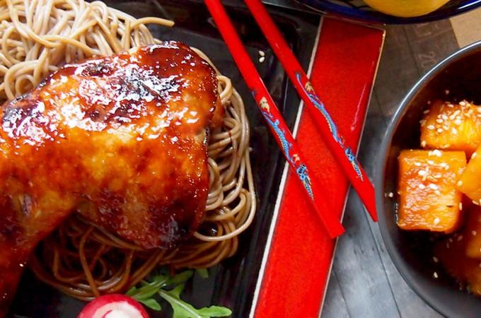 Kurczak w azjatyckiej glazurze z piwem / Asian style roast chicken with beer