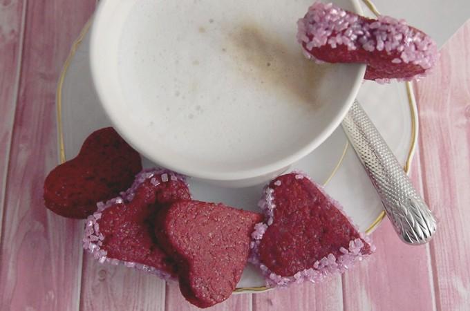 Kruche ciasteczka walentynkowe / Valentine shortbread cookies