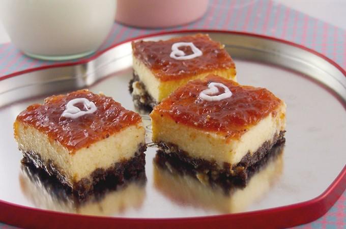 Sernik z białą czekoladą / White chocolate cheesecake squares