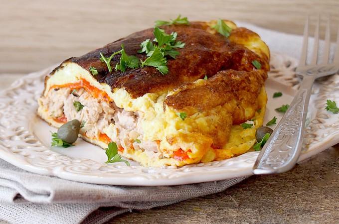 Omlet z serem i tuńczykiem / Tuna melt omelets