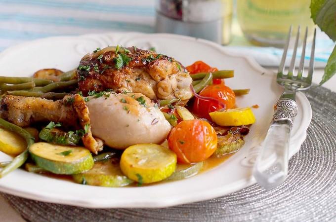 Kurczak z warzywami z patelni / Skillet chicken with vegetables