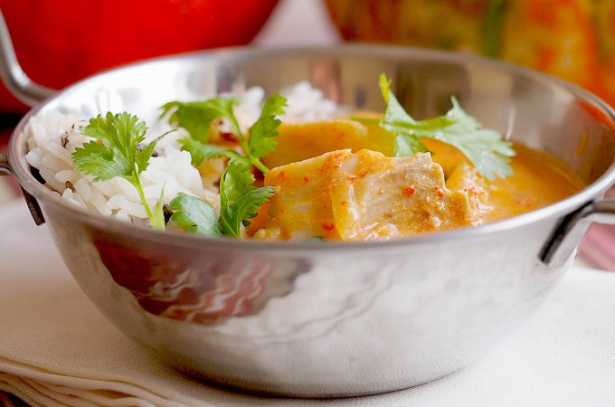 Tajskie czerwone curry z rybą / Thai red fish curry
