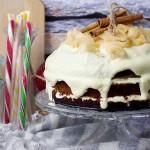 ciasto miodowe z jablkami / Honey apple cake