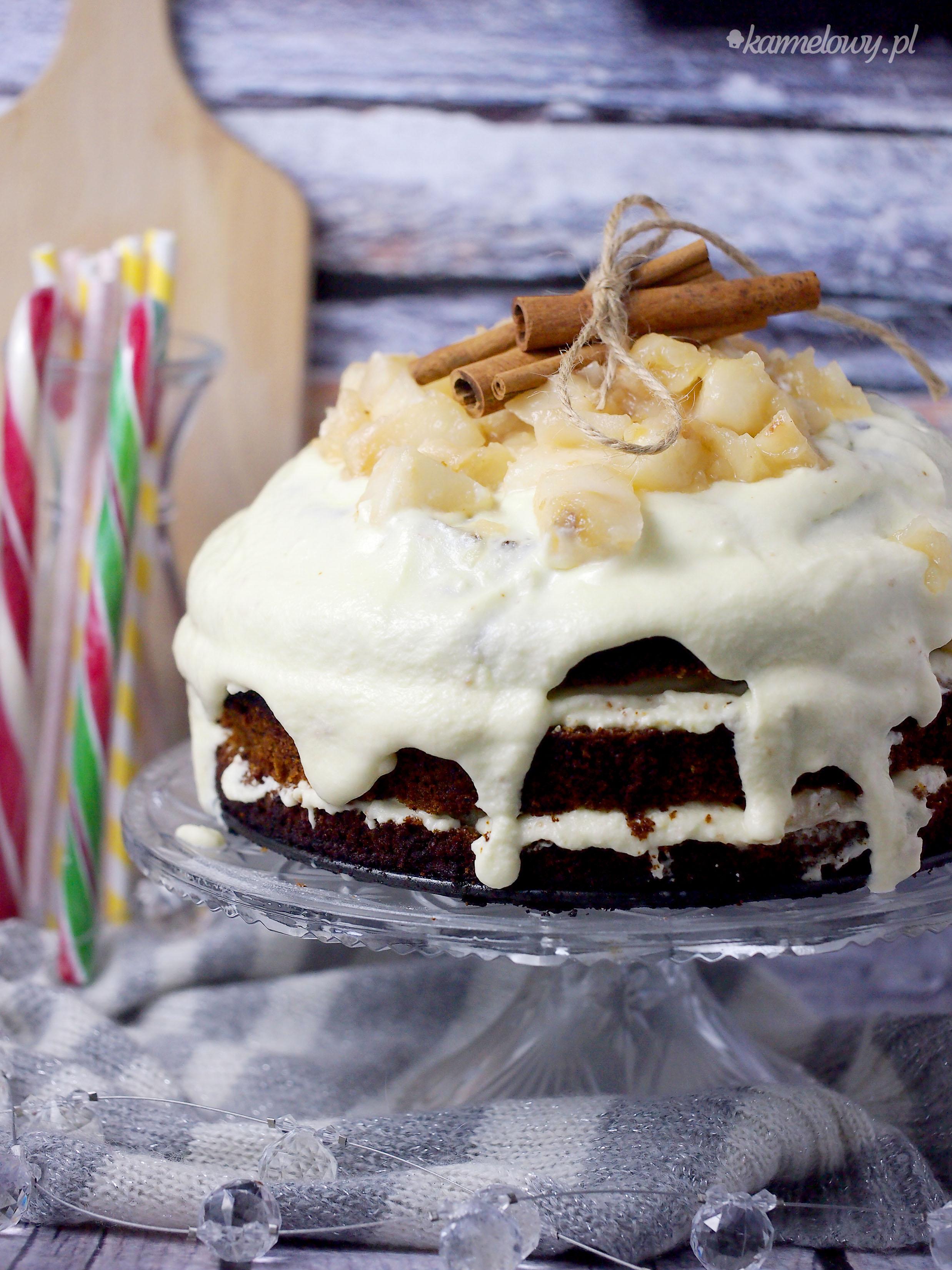 2 urodziny bloga i ciasto miodowe z jabłkami / Honey apple