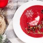 Zupa krem z pieczonych burakow z gruszkami i imbirem / Cream of roasted beet soup with pears and ginger