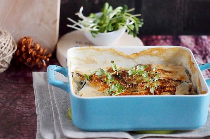 Baklazan zapiekany w smietance z tymiankiem / Baked aubergines with thyme and cream