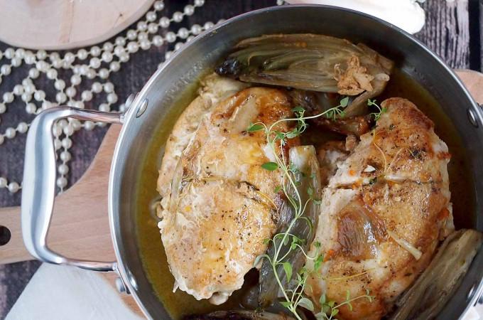 Kurczak z cykorią w sosie z winem Marsala / Chicken chicory with Marsala sauce