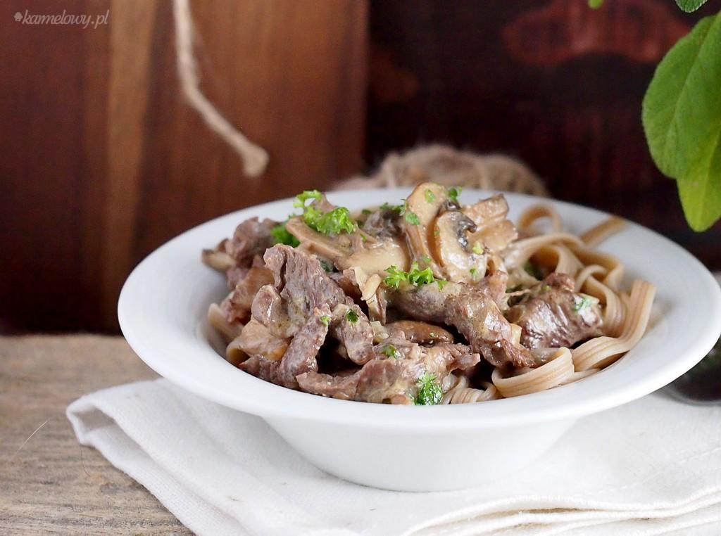 Szybki strogonow wołowy / Easy beef stroganoff