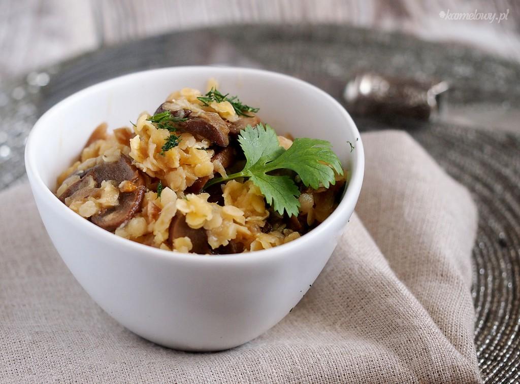 Szybka soczewica z pieczarkami / Easy lentils with mushrooms