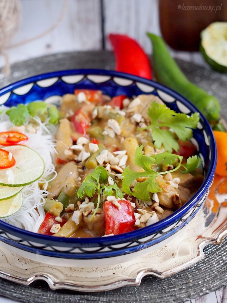 Polędwiczka w tajskim sosie z fasolką / Thai pork loin with beans
