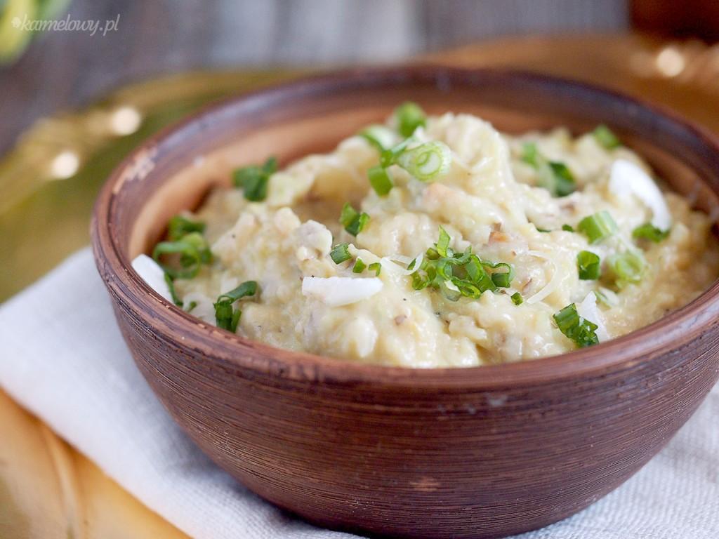 Puree ziemniaczane z kapustą i brie / Potato puree with cabbage and brie