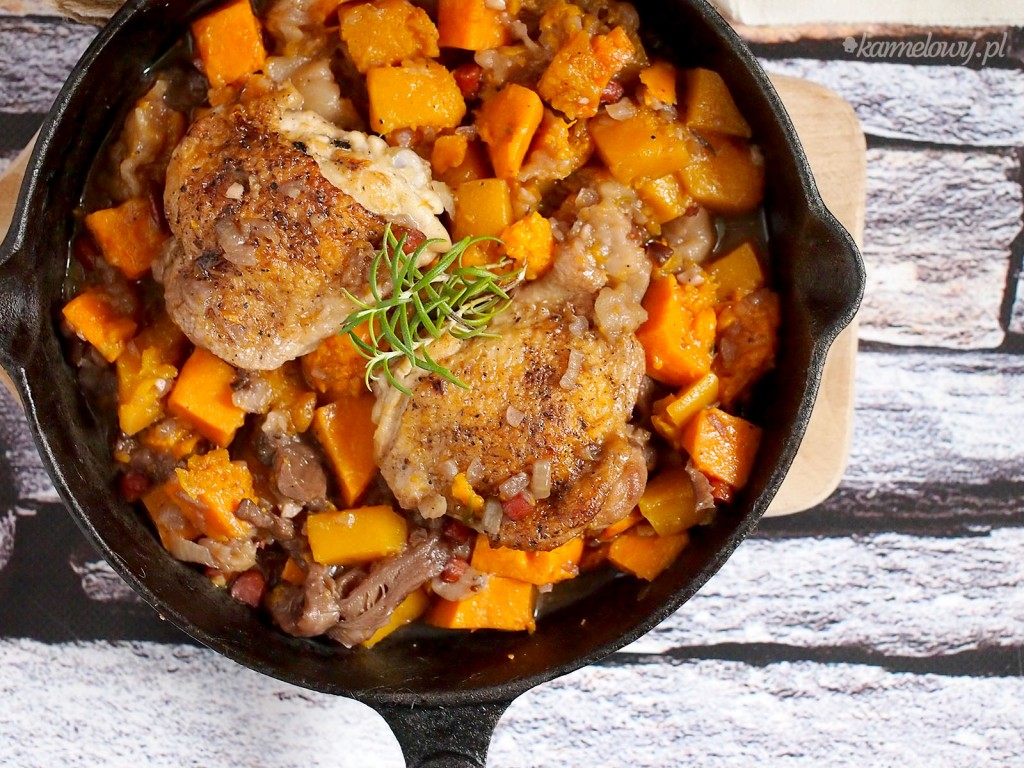 Kurczak z dynią i jabłkami / Chicken with pumpkin and apples