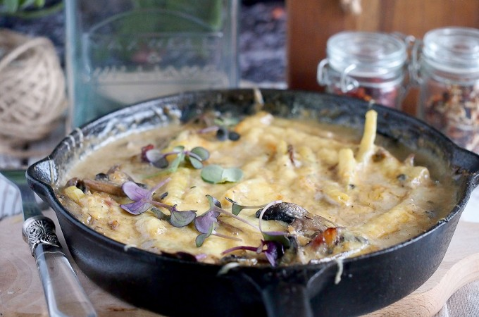 Fasolka szparagowa zapiekana z grzybami / Green bean and mushroom bake