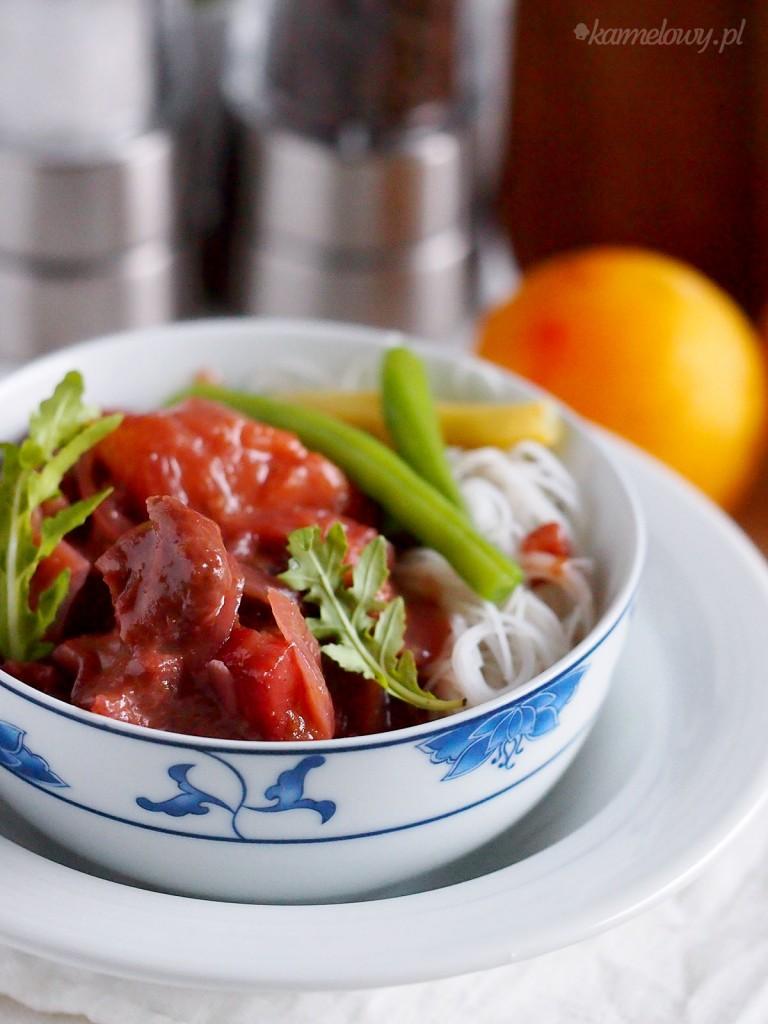 Szybki kurczak w sosie śliwkowym / Easy chicken with plum sauce