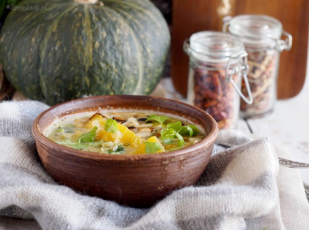 Pożywna zupa z dynią, soczewicą i szpinakiem / Pumpkin, spinach and lentil soup