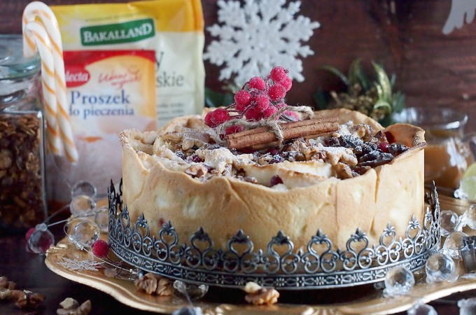 Ciasto z jabłkami, żurawiną i korzennym karmelem / Apple and cranberry pie with gingerbread caramel