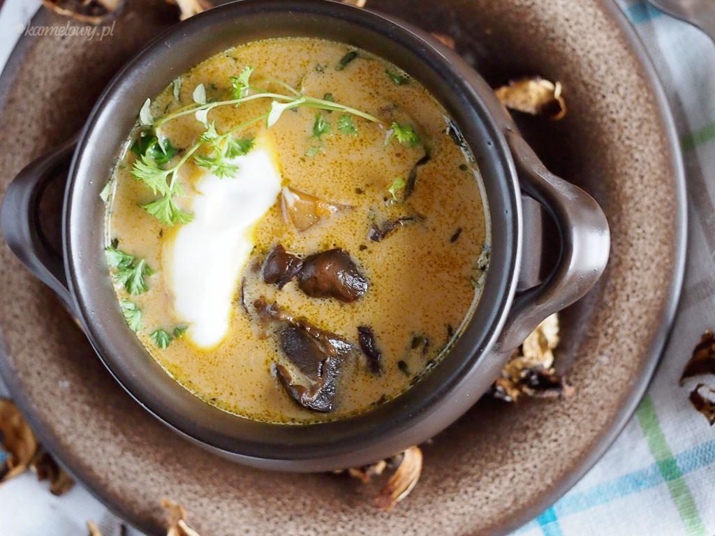 Śmietankowa zupa grzybowa / Creamy mushroom soup