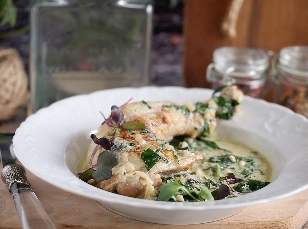 Kurczak ze szpinakiem i gorgonzolą / Gorgonzola and spinach chicken