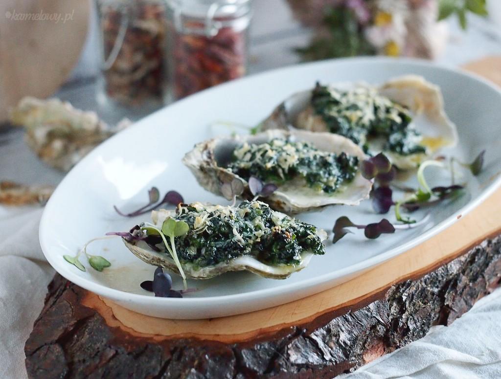 Ostrygi zapiekane ze szpinakiem i parmezanem / Spinach parmesan oysters