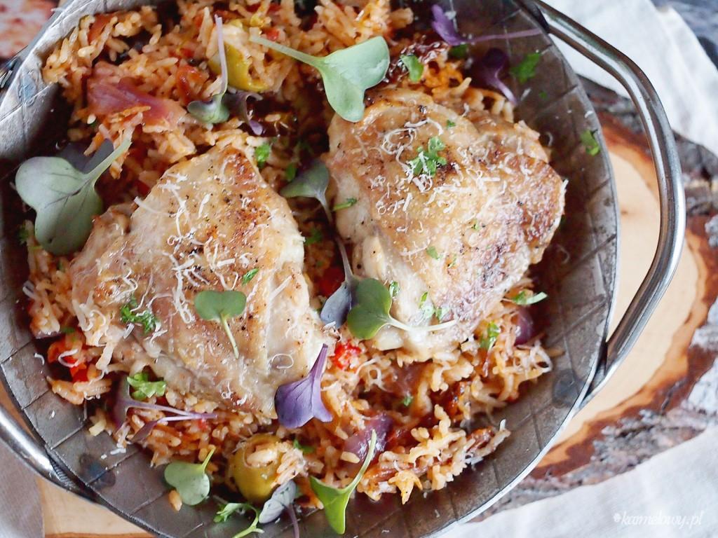 Kurczak z ryżem po włosku / Italian chicken and rice
