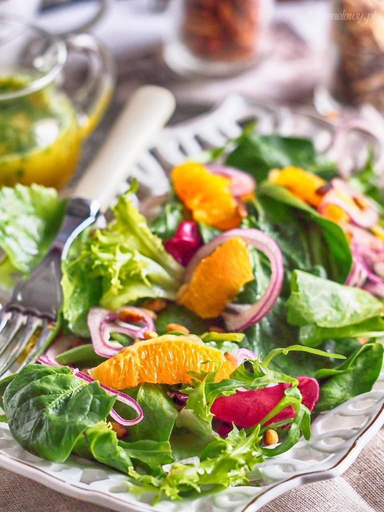 Orzeźwiająca sałatka ze szpinakiem i pomarańczami / Spinach and orange salad