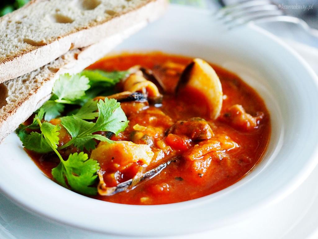 Szybki gulasz z owocami morza / Speedy seafood supper