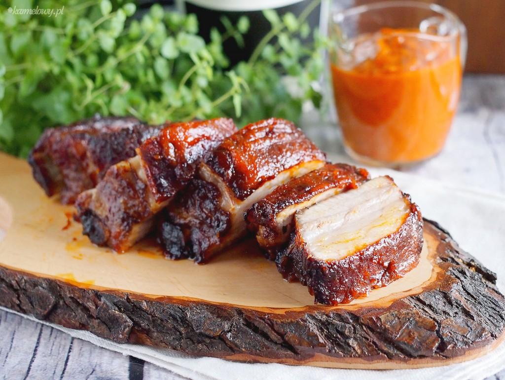 Pikantne żeberka w glazurze / Spicy sticky ribs