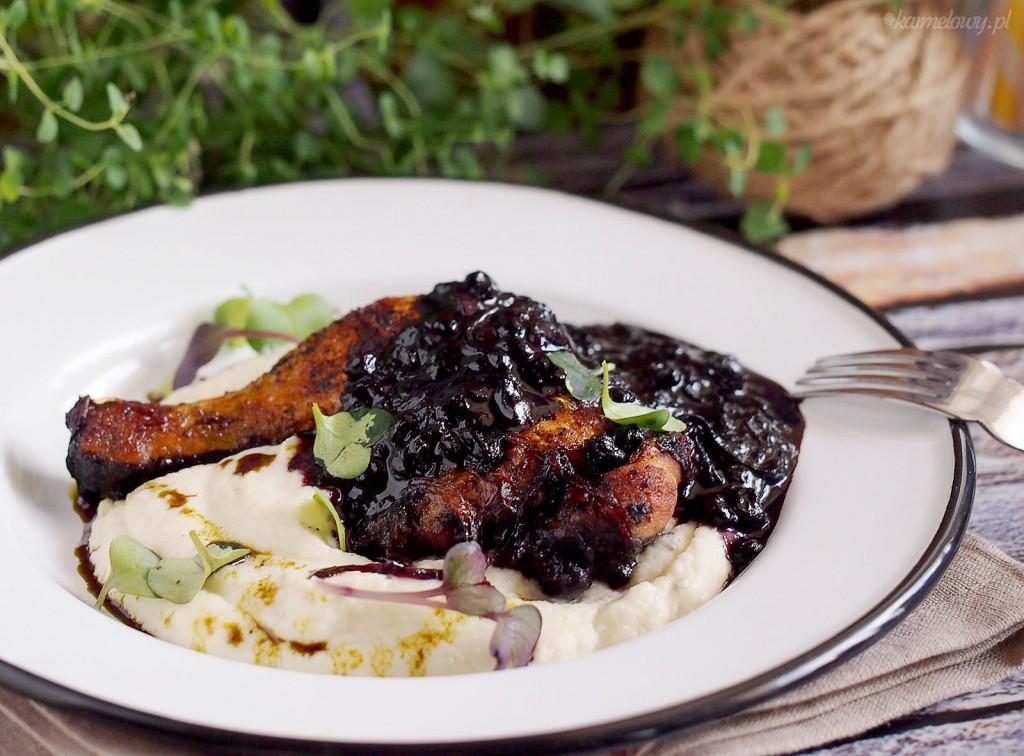 Kurczak z sosem jagodowym / Chicken with blueberry sauce