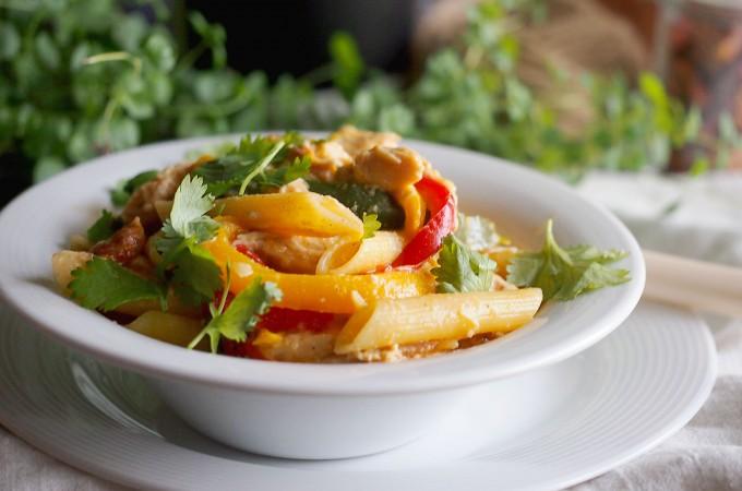 Makaron z kurczakiem z jednej patelni / One pot chicken pasta