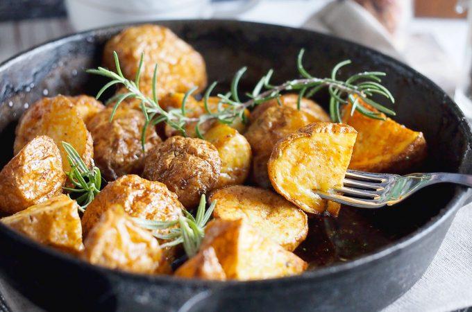 Balsamiczno-miodowe pieczone ziemniaczki / Balsamic honey roasted potatoes