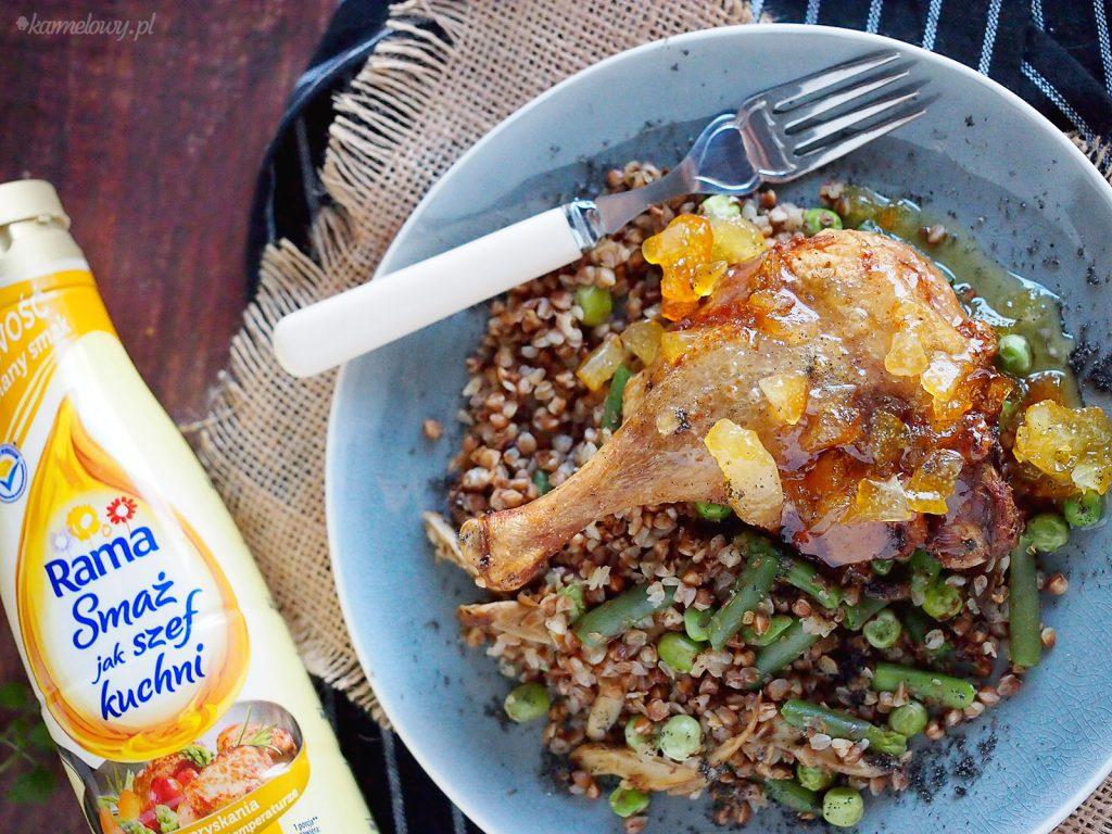 Udka kacze w glazurze pomarańczowej / Orange glazed duck legs